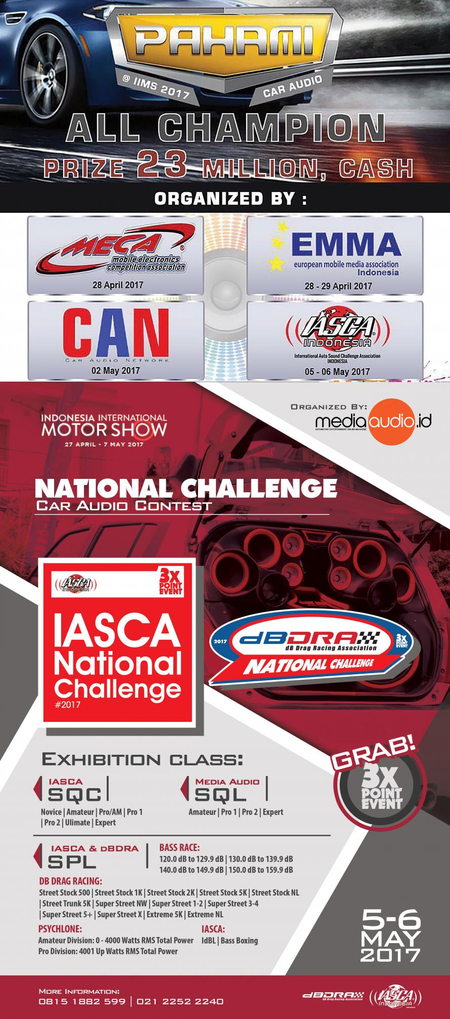 IASCA & DB DRA di Pahami Car Audio Contest IIMS 2017